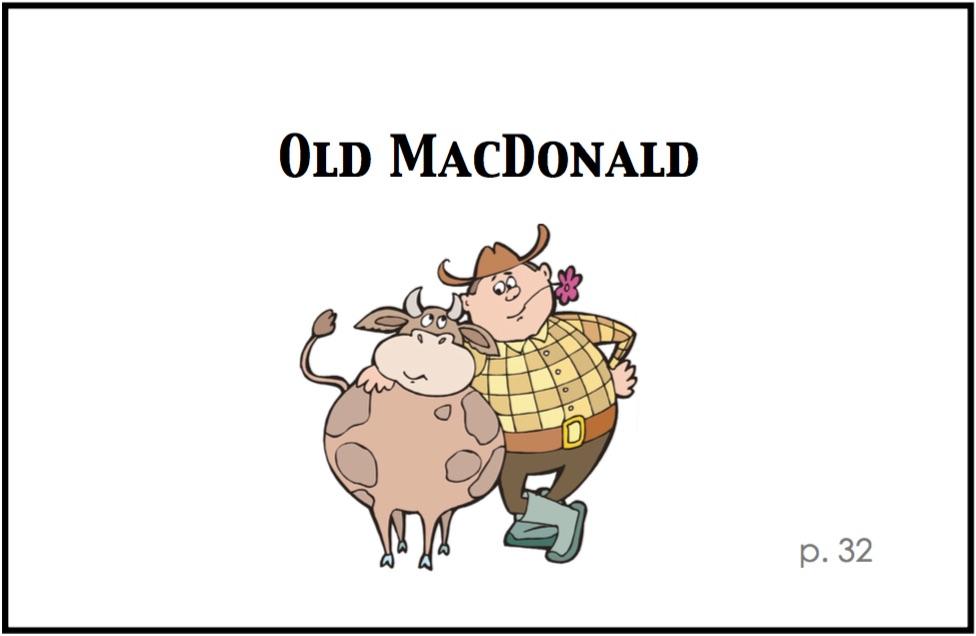 Old MacDonald Piece Card