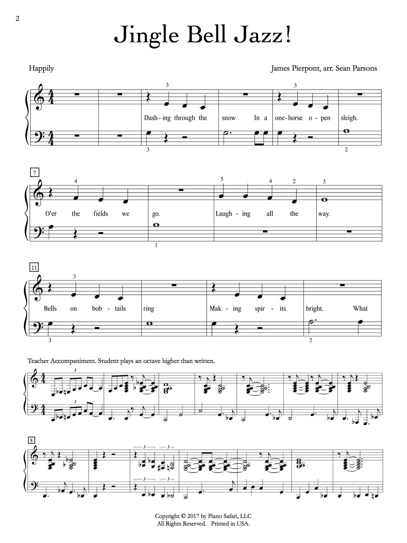 jingle bell jazz! – piano safari